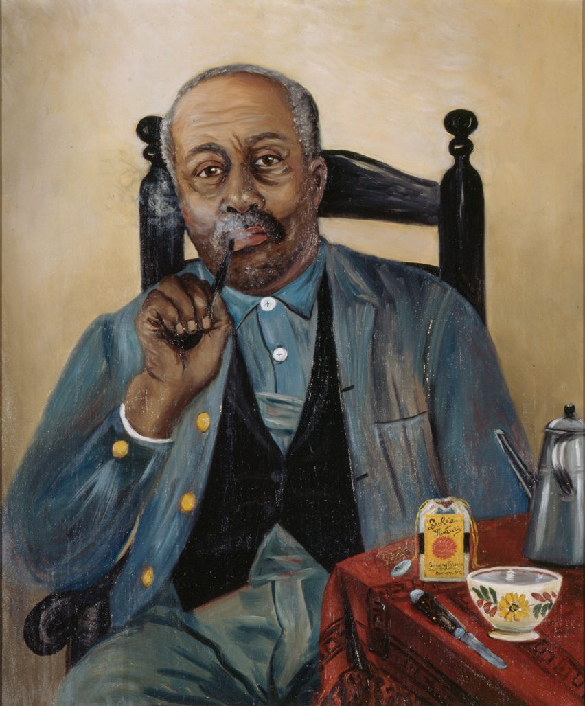 "1890-1910 painting ""Man Smoking Pipe "" by Mary Lyde Hicks Williams"