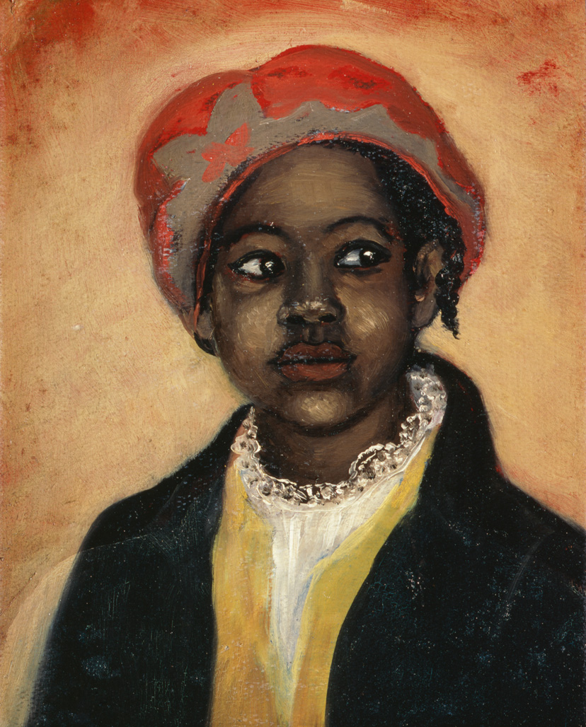 "1890-1910 painting ""Ernestine"" by Mary Lyde Hicks Williams"