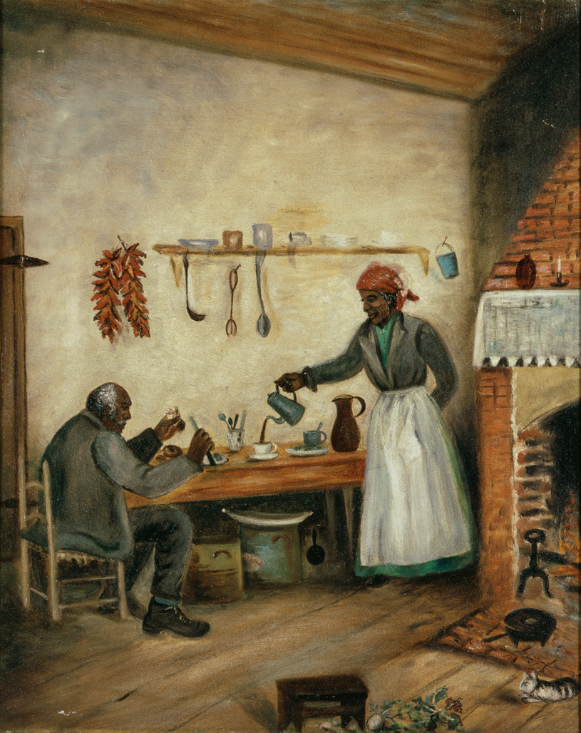"1890-1910 painting ""The Laborer's Refreshment"" by Mary Lyde Hicks Williams"