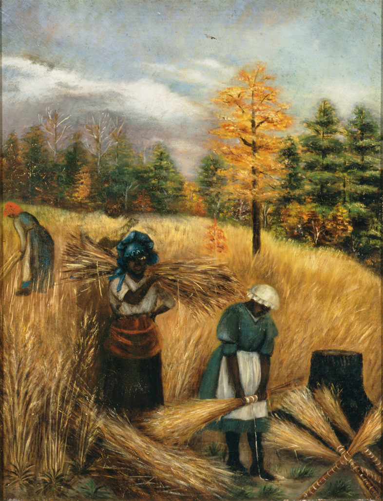 "1890-1910 painting ""Gathering Broom Straw"" by Mary Lyde Hicks Williams"